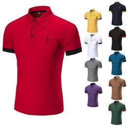 boy polos 2019 - 2018 Poloshirt Solid Polo Shirt Men Luxury Polo Shirts Long Sleeve Men's Top Cotton Polos For Boys Brand Designer P