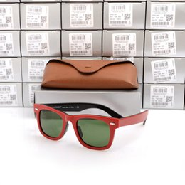 $enCountryForm.capitalKeyWord Australia - New Romantic Sunglasses Excellent Quality Plank red black Sunglasses glass Lens Green Lens Sunglasses beach ray sun glasses Come With Boxs