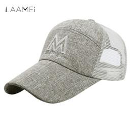 629028d6fa05e Laamei Casual Women Men Snapback Baseball Cap Summer Mesh Trucker Hat  Breathable Sun Hats Adjustable Hip Hop Caps