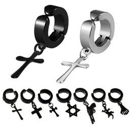09ac2184402c Pendientes de brinco de acero inoxidable de moda Venta caliente Clip de  oreja Versión coreana De