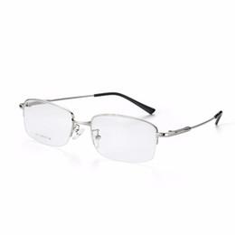 6f90e8d3cce 2017 Fashion Titanium Myopia Rimless Glasses Memory Square Eyeglasses  Optical Frame Eyewear Men Women Brand Designer 9201