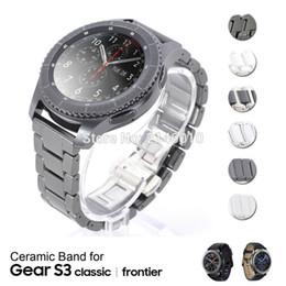SamSung gear S3 watch online shopping - 22mm Ceramic Watch Strap Band Wristband Bracelet for Samsung Gear S3 Frontier S3 Classic nd Gen mm