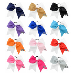 $enCountryForm.capitalKeyWord Australia - 8 Inch 12 Colors Children Bows Forked Tail Ribbon Hair Bands For Girls Kids Double Color Candy Cute Hair Clips Cheer Bow Hair Accessory NEW