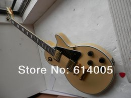 ElEctric guitar shipping box online shopping - cream yellow color Les CUSTOM guitar with Mahogany body and neck Electric guitar Foam box packaging with hardcase389