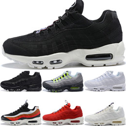 14c2f9e60a 2018 Designer 95 Men Running Shoes What The OG Grape Neon TT Black Red 95s  Mens Trainers Sports Sneakers Size 7-11