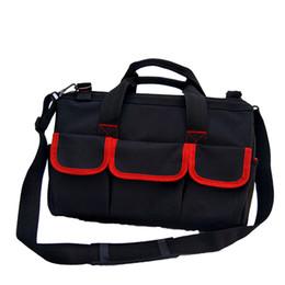 Oxford Cloth Waterproof Tool Bag Electrician Plumber Portable Screws Drill Bit Storage Pouch Hand Repair Tool Organizer Case Kit Tool Organizers