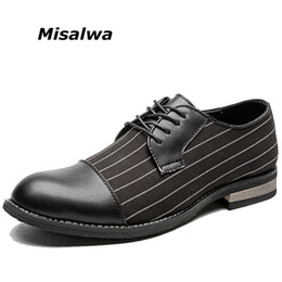 Misalwa New Unique Men Stripes Oxfords Men Loafers Casual Daily Shoes  Wedding Party Dating Dress Shoes Men s Flats 3524cd5b7177