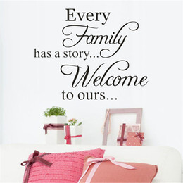 Sweets Wall Stickers Australia - Wholesale 1 PCS Sweet Every Family Has A Story Self-adhesive Wall Sticker Living Room Wallpaper Home Decal Wall Art