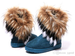 $enCountryForm.capitalKeyWord NZ - 2019 Hot sale !Free shipping 3colors Fashion Rabbit hair and Fox Fur In tube Color matching warm snow winter boots for women & ladie