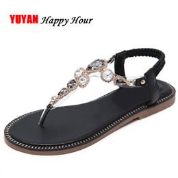 c2c76ca6ab0 Fashion Rhinestone Sandals for Women Beach Shoes Flat Summer Shoes Ladies  Brand Plus Size Women s Sandals ZH2895