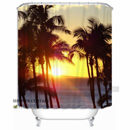 "$enCountryForm.capitalKeyWord Canada - Vixm Home Refreshing summer Fabric Shower Curtain Holiday Beach Sunshine Customized Bath Curtain for Bathroom With Hooks Ring 72"" X 72"""