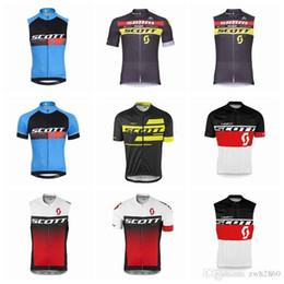 Lycra Sports NZ - SCOTT team Cycling Short Sleeves Sleeveless jersey Vest Breathable sport wear Bicycle Clothing Lycra summer MTB Bike F805