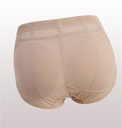 panties shaper UK - wholesale Hot Shaper Sexy Boyshort Panties Woman Fake Ass Underwear Push Up Padded Panties Buttock Shaper Butt Lifter Hip Plus Size