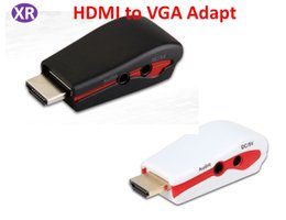 $enCountryForm.capitalKeyWord NZ - Hdmi to VGA Adapter for Power and Audio HDMI A Male Adapter With 3.5mm audio cable for PC to HDTV Projecteor DHL  576i 480p 576p 720p 1080p