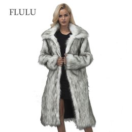 FLULU Casual Winter Coat Women 2018 Fashion Long Sleeve Jacket Coat Warm  Loose Thick Lengthen Faux Fur Outerwear Plus Size 61a9df169
