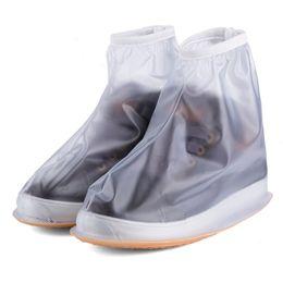 Discount shoe boots heels - Men Women's Rain Waterproof Flat Ankle Boots Cover Heels Boots Shoes Covers Thicker Non-slip Platform Rain Boots S0