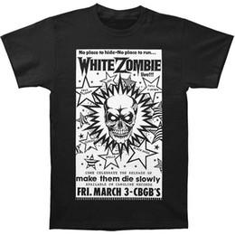 $enCountryForm.capitalKeyWord NZ - Sleeves Cotton Free Shipping White Zombie Men's CBGB Poster T-shirt Black Short O-Neck Compression T Shirts For Men