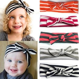 Rabbit Hair Diy Australia - Wholesale- 2016 New Fashion Style Baby Rabbit Ear Shaped DIY Headbands Various Styles Girls Headwear 7 Colors Hair Accessories