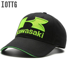 Red White Kawasaki Canada - IOTTG 3D K Letter Embroidered Kawasaki Baseball Cap MOTO GP Motorcycle Sports Hats Outdoor Racing Snapback Hat Men Women Dad Cap