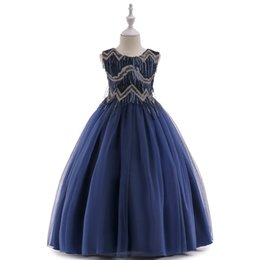 China Cheap Lace And Tulle Flower Girl Kids Formal Wear Dresses For Wedding White Ball Gown Princess Girls Pageant Gowns Communion Dress LP-206 suppliers