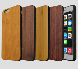 dark wood iphone case NZ - Bamboo Handmade For iPhone X Wood+Silicone Case Wooden Cover For iphone 7 8 Plus xs max Samsung Galaxy S8 S9 Plus Case LLFA