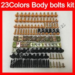 China Fairing bolts full screw kit For KAWASAKI NINJA ZX2R ZXR250 93 94 95 ZX2R ZXR 250 ZX-2R ZXR-250 96 97 Body Nuts screws nut bolt kit 23Colors cheap kawasaki ninja zx 2r suppliers