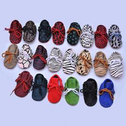 Infant Leopard Print NZ - 2019 new Baby Moccasins shoes Infant Genuine Leather Leopard Print First Walkers Soft bottom tassel Toddler shoes 78 colors C3067