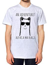 Woman Funny Bags NZ - An Adventure Alpaca Ma Bags T Shirt Funny Cartoon Teen Llama Men Women Kids GirlFunny free shipping Unisex Casual tee gift