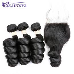 Peerless virgin hair online shopping - Brazilian Virgin Hair Loose Wave Bundles With Lace Closure Free Part Unprocessed Virgin Human Hair Bundles With Closure peerless