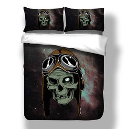 China 3D Sugar Skull Cool Bedding Sets Comforter Bed Cover Homemade Bedspread Duvet Cover Set Queen King Size Bedding Double Bed supplier bedspread double beds suppliers