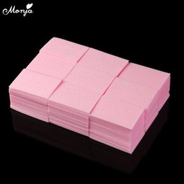 cotton acrylic Canada - Art & Tools Nail Polish Remover Monja 1000pcs Pink Nail Art Acrylic UV Gel Polish Remover Clean Cotton Lint Pads Wraps