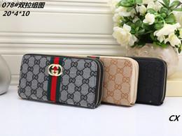 Discount men long zip wallets - Standard double zip wallet long wallets fashion designer women men clutch bag long purse PU quality women purse