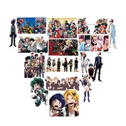 Wholesale 50Pcs pack My Hero Academia Anime Sticker Skateboard Waterproof Trolley Case Laptop Skateboard Stickers Toys Gifts For Kids