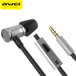 $enCountryForm.capitalKeyWord NZ - AWEI ES-660I mini Earphone With Microphone Metal Headset HIFI fone de ouvido Audifonos Casque For iPhone Samsung Huawei Phones