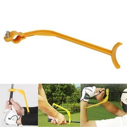 Golf club traininG aids online shopping - Plastic Golf Practice Swing Mini Portable Educational Training Guide Gesture Alignment Aids Wrist Correct Tools For Green Club tx ZZ