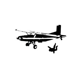 Chinese  skydiving adventure sports youth fashion truck car decal sticker ca-030 manufacturers