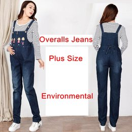 $enCountryForm.capitalKeyWord Canada - Maternity Jeans Denim Overalls Cotton Jumpsuit Casual Maternity Clothes for FPregnant Women Moms Trousers Premama Pant Plus Size