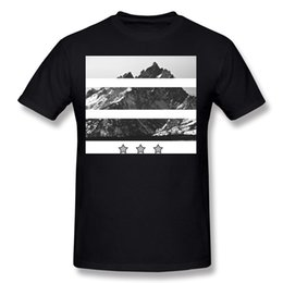mountain tees Canada - New Coming Man Percent Cotton Mountain Stars Tee-Shirt Man O Neck Carbon Shorts T-Shirt Plus Size Cool Tee-Shirt