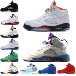 china sports shoes sneaker Canada - 5 5s Wings International Flight Mens Basketball Shoes Oregon Ducks Low China Silver White SUP men sports sneakers designer trainers