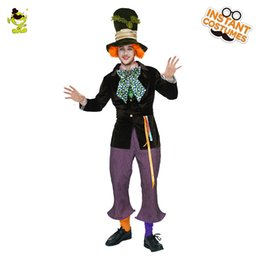Wholesale Men s Gentleman Clown Costume Professional Circus Clown Fancy Dress For Adult Halloween Christmas Role Play