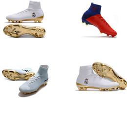 $enCountryForm.capitalKeyWord NZ - New many red color Real Madrid men soccer cleats Mercurial Superfly V FG cr7 Cristiano Ronaldo soccer shoes women football boots Turf