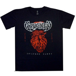 Wholesale Gorguts Colored Sands Red Hands Shirt L XL Death Metal T Shirt Official Tshir Men S Lastest Fashion Short Sleeve Printed