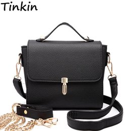 Wholesale Tinkin Women Casual PU Shoulderbag Female Elegant Handbag Daily Shopping Crossbody Bag For Lady All match Vintage Bolsa Feminina