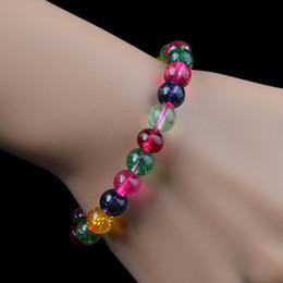 $enCountryForm.capitalKeyWord Canada - 10MM Natural Watermelon Crystal Bracelets Multi Size Tourmaline Crystals Quartz DIY Jewelry Hand Chain Hand String LUCKY