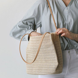 2018 SFG HOUSE Grandi borse di paglia Donne Summer Rattan Bag Handmade Donne Beach Cross Body Bag Boemia Outdoor Handbag Casual Borse da donna Borse