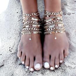 $enCountryForm.capitalKeyWord NZ - Hot Rhinestone Beach Anklets 2018 Sandbeach Barefoot Jewellery Cheap Bohemia Boho For Wedding Bridal Bridesmaid Foot Jewellerys