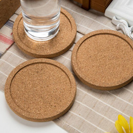 Classic Round NZ - Classic Round Plain Cork Coasters Drink Wine Mats Cork Mat Drink Juice Pad for Wedding Favor Party Gift LX3535