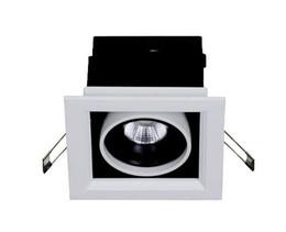 ¡Nuevo diseño! 5w 7W Square COB LED techo luz de la parrilla de la lámpara LED luz de punto de frijol 120 * 120, frío cálido blanco neutro, envío gratis