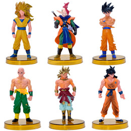 Discount action figures - Dragon Ball Action Figures Toys cartoon Anime 50 generations 6 styles Goku Siah Dolls model Desktop Decoration C4388