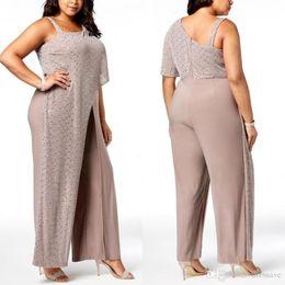 c50c8464e99e Discount occasion jumpsuits - Plus Size One Shoulder Straps Evening Dresses  Chiffon Sequins Jumpsuit Formal Occasion